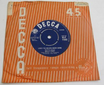 "Billy Fury LIKE I'VE NEVER BEEN GONE 1963 UK 7"" VG+ AUDIO"